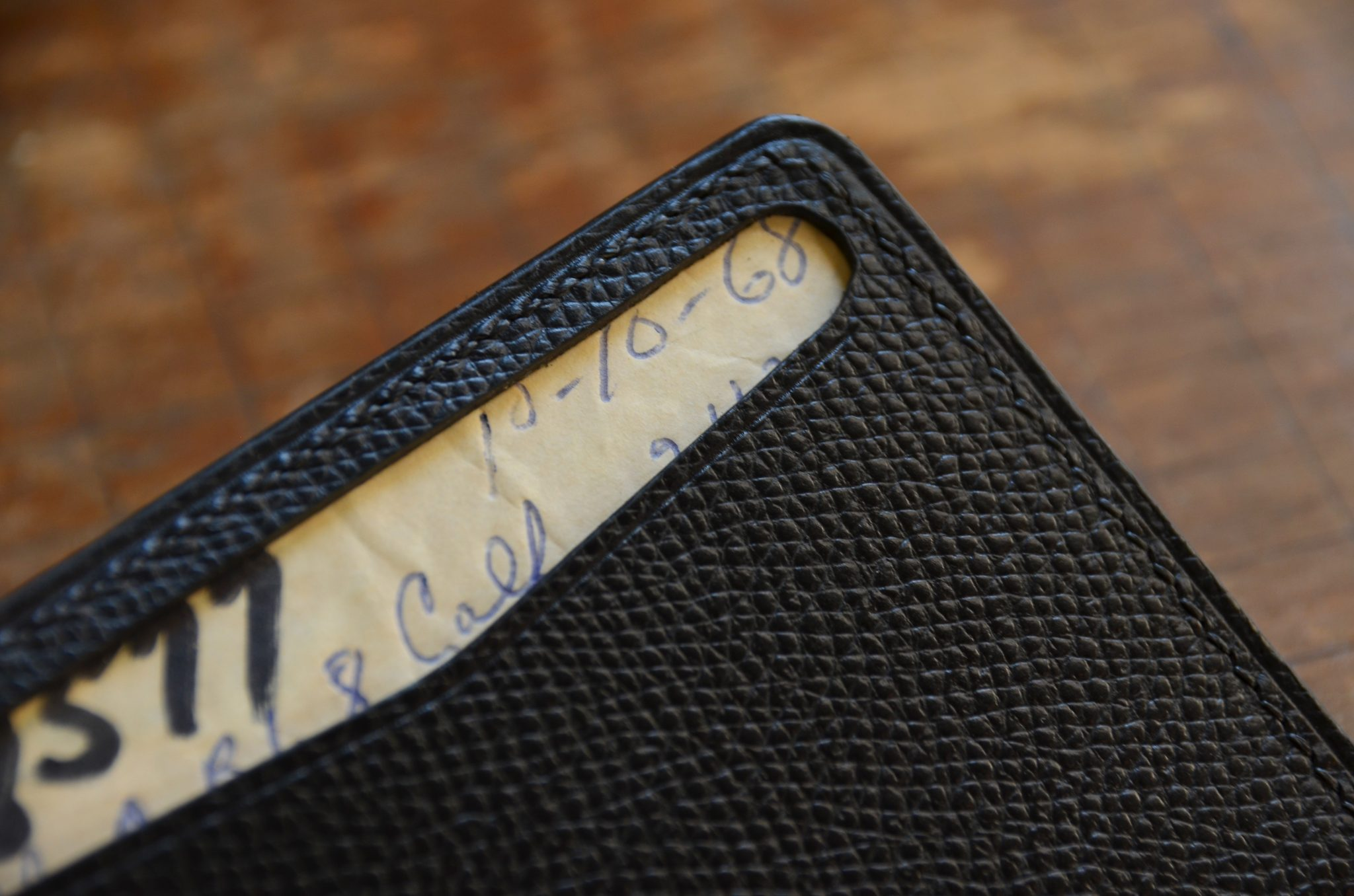 Vintage Leather Card Wallet